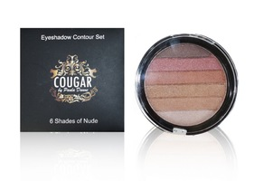 6 Shades of Nudes Eyeshadow Contour Set by Cougar Beauty
