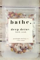 Goodnight Darling bathe. deep detox Bath Soak