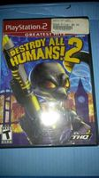 SONY PLAYSTATION 2 - DESTROY ALL HUMANS! 2- Great Shape, no book.