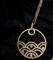 Walter Baker Swarovski Crystal Silver Necklace