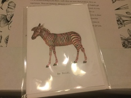 Tokyo Milk zebra card