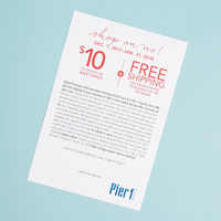 Pier 1 $10 gift card