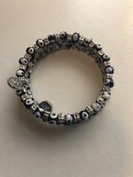 Greek evil eye wrap bracelet