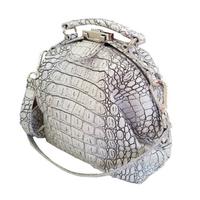 Mutsaers Galore Leather Bag - White Croco - $295
