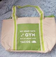 Gym vs Tacos Insulated Lunch Tote