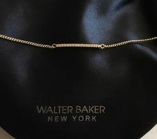 Walter Baker gold plank Pave bracelet with Swavorski crystals