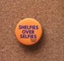 Shelfies over selfies pin