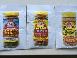 Bragg Organic Seasoning Samples
