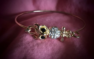All the Rage Owl bracelet gold from Little Black Bag