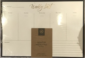 Weekly planning pad