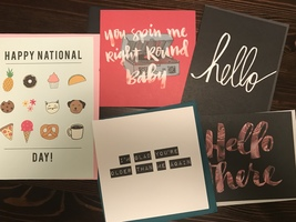 Set of 5 Happy Mail notecards