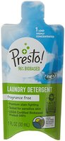 Presto! 96% Biobased Concentrated Liquid Laundry Detergent, Fragrance Free, 1 Load