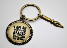 Key Chain with Sherlock Holmes Quote
