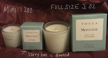 TOCCA Voyage MONTAUK Full Size 3oz Candle + 1.2 oz Travel Version