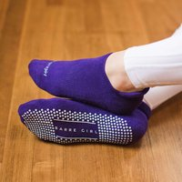 Barre Girl Eve Crew Low Rise Grip Socks