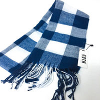 Navy and White Scarf for Winter