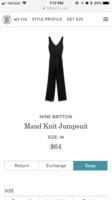 Nine Britton maud knit jumpsuit size medium