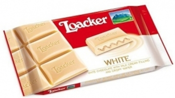 Loacker White Chocolate with Milk Cream Filling and Crispy Wafer