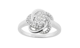 """Stella """"Cosmic"""" 18k White Gold Plated Ring"""