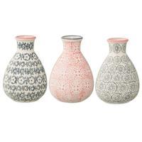 Bloomingville Small Cecile Vase - Grey Circles