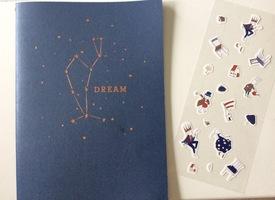 Notebook and sticker sheet