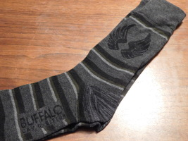 Gray striped socks (with wings)