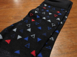 Nautica socks with red and blue triangles