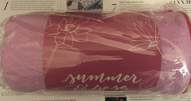 "SUMMER & ROSE Pink ""Good Vibes"" Yoga Towel"