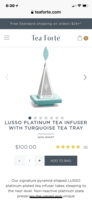 Tea Forté Lusso Platinum Tea Infuser