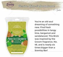 Scentsy Persian Lime & Sandalwood Wax Brick