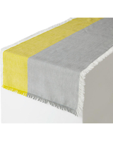 Pehr Chambray Table Runner in Mist/Citron