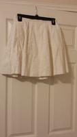 Ellison white brocade mini skirt in medium