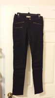 Black stretchy zipper pants by Cotton Candy in medium