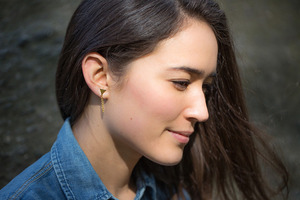 For the Makers Little Point Earrings DIY
