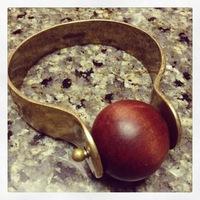 Jewelmint brass and wooden bracelet
