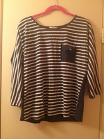 Hem and Thread Stripped Top
