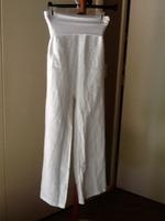 Jolie White Linen Pants