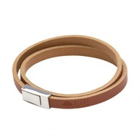 Bison Made Double Wrap Leather Bracelet