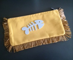 KOKU Myrto Fishbone Clutch - Yellow
