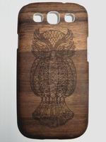 Wood Grain Owl case for Samsung Galaxy SIII