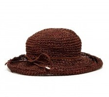 Michael Stars Sea Grass Crusher Hat in Dark Brown