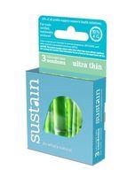 Sustain Ultra Thin Condoms - 3 pk