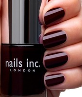 """Nails Inc. London VICTORIA """"a deep cherry red"""" from the December 2013 Glossybox in the full size .33 fl OZ retail $9.50"""
