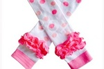 ooa la Leggies Pink Lemonade Ruffled Leg Warmers