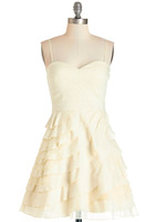 Modcloth Minuet Baklava Dress, cream, removable straps