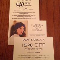 Gift card/coupon lot