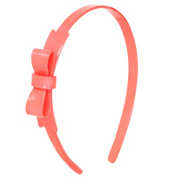 Pink Shiny Bow Headband