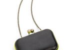NEON COLORBLOCK CLUTCH BLACK/YELLOW