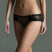 Daphne Lace Hipster- Black by real