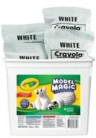 One 8 oz package Crayola Model Magic (white)